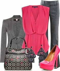 Like this outfit.with slightly less heel for business attire. French Connection tops, STELLA McCARTNEY blazers and Michael Kors pants. Fashion Mode, Work Fashion, Womens Fashion, Fashion Trends, Komplette Outfits, Casual Outfits, Fashion Outfits, Work Outfits, Outfit Work