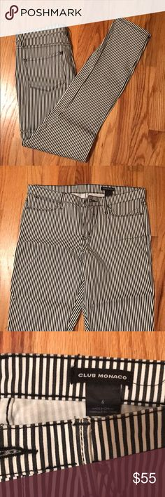 Club Monaco stripped jeans Gorgeous striped jeans- never worn before cause I bought the wrong size. Club Monaco Jeans Skinny