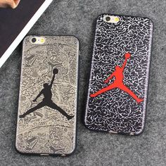 Fashion Brand Case Jordan Dunk Fly Air Man Leather Case For iPhone 7 7 Plus 6 6S 6 Plus Case Back Cover Coque Fundas