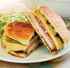 Grilled Roast Pork Cubano Sandwiches - Fine Cooking Recipes, Techniques and Tips Grilled Roast, Pork Roast, Sirloin Roast, Roast Brisket, Beef Tenderloin, Pork Loin, Cuban Recipes, Pork Recipes, Game Recipes