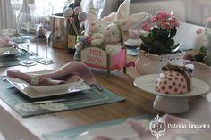 Mesa decorada para páscoa por Patricia Junqueira {Home, Receber & Baby} decoracao pscoa