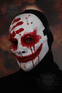 Gory by SatanaelArt on DeviantArt Masque Halloween, Scary Halloween, Halloween Makeup, Creepy Masks, Cool Masks, Arte Horror, Horror Art, Dark Fantasy Art, Scarecrow Mask