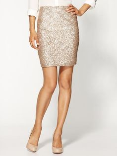 Sequin Pencil Skirt. It'll look a wee bit different in me, but I like it #curves