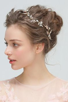 Cheap bride diaries, Buy Quality wedding hair accessories directly from China bridal headband Suppliers: Bride Diaries Boho Gold Leaf Bridal Headband Rhinestone Opal Wedding Hair Accessories Vine Vintage Women Headpiece Hair Accessories For Women, Wedding Hair Accessories, Headband Hairstyles, Wedding Hairstyles, Medium Hair Styles, Short Hair Styles, Hair Scarf Styles, Hair Kit, Loose Updo