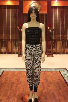 Jumpsuit in zebra print & lace style