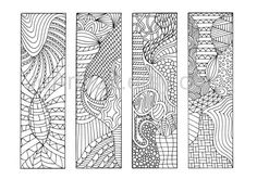 DIY Zentangle Inspired Bookmarks, Zendoodle Printable Coloring, Digital Download, Sheet 4. $4.00, via Etsy.