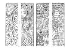 Zendoodle PDF Bookmarks to Print Zentangle Inspired by JoArtyJo
