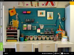 Want this for the playroom...drawing/craft center!