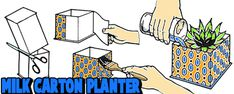 Milk Carton Crafts for Kids : Ideas for Arts and Crafts Activities ...