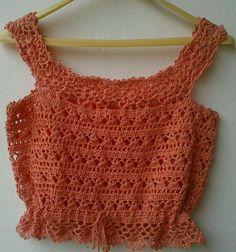 Pull Crochet, Gilet Crochet, Crochet Shirt, Crochet Crop Top, Crochet Cardigan, Diy Crochet, Crochet Crafts, Crochet Baby, Crochet Bikini