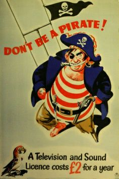 Don't be a Pirate, 1951 - original vintage poster listed on AntikBar.co.uk