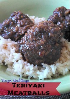 These Teriyaki Meatballs are super easy to make, delicious to eat and are a fabulous Freezer Meal Recipe!