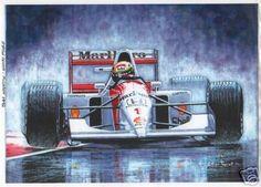 Ayrton Senna 'Master in The Rain' Art Print | eBay