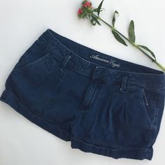 American Eagle Shorts Loose fitting denim shorts from AE. Material is super soft and light. They have a 32 inch waist and inseam is 3 inches. Made with 100% soft cotton. In perfect condition. American Eagle Outfitters Shorts Jean Shorts