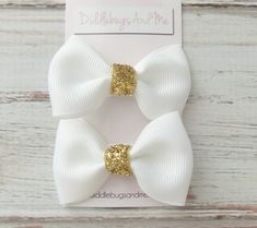Hey, I found this really awesome Etsy listing at https://www.etsy.com/listing/206871737/white-and-gold-tuxedo-hair-bows-gold-and