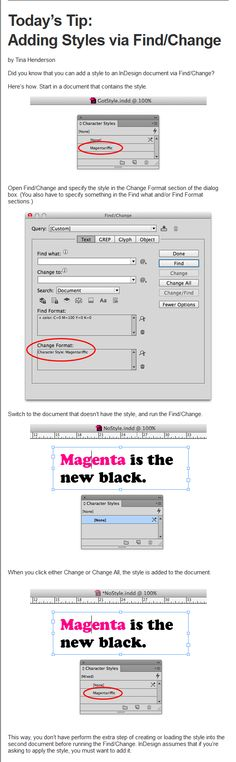 InDesign Tip of the Week: Adding Styles via Find/Change