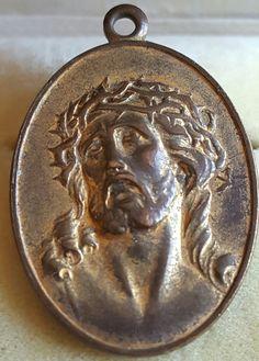 Antique Spanish Jesus Christ Engraved Medal Medallion Pendant Engraved MVO July 1, 1908 Julio 1908 Catholic Gift Religious Gift by PinyolBoiVintage on Etsy
