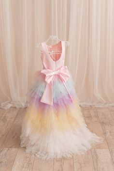 8edc5213c Unicorn dress, Flower Girl dress, Baby girl 1st birthday dress, Dress baby  girl, Birthday dress, Tutu dress for girls, boho wedding outfit