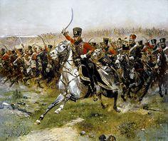 4to regimiento de Hussars franceses durante la batalla de Friedland. Más en www.elgrancapitan.org/foro