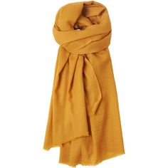 Toast Fine Wool Scarf ($72) ❤ liked on Polyvore featuring accessories, scarves, ochre, woolen scarves, wool scarves, woolen shawl and wool shawl