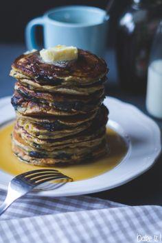 Blueberry Banana Pancakes Blueberry, Banana, Breakfast, Food, Credenzas, Food Food, Morning Coffee, Berry, Eten