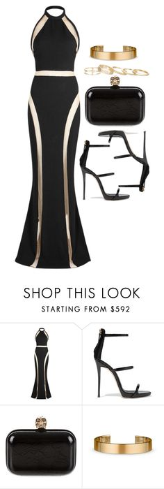 """Untitled #12099"" by vany-alvarado ❤ liked on Polyvore featuring Balmain, Giuseppe Zanotti, Alexander McQueen, Le Gramme and Kendra Scott"