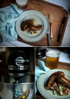 How to make sausages - Pork, Apple & Caramelized Onion Sausages  |  Adeline & Lumiere  #adelineandlumiere #foodphotography
