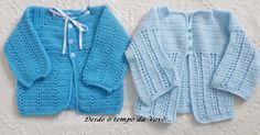 Dois casaquinhos em crochê para bebê. Não é nenhum modelo novo, mas embora sendo muito tradicional é muito fácil fazer ...