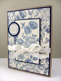 """Beautifully stamped """"toile"""".  Love this technique"""