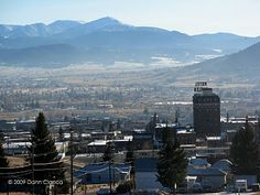 Butte, MT---looking south on the city.  The Highlands are in the far background.
