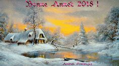 Voeux 2018 Winter Scene Paintings, Winter Painting, Christmas Scenes, Christmas Art, Winter Szenen, Art Thomas, Seascape Art, Illustration Art, Illustrations