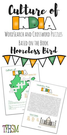 This FREE homeschool unit study about India is perfect to center around the book, Homeless Bird by Gloria Whelen (a book recommended in Sonlight Curriculum's reading lists for late elementary/early middle school). India For Kids, Lessons For Kids, School Lessons, Elementary Education, Upper Elementary, Homeschool Curriculum, Teaching Resources, Teaching Tools, The Book