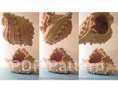 "Ravelry: ""Frilled Bobble Shell"" Basket pattern by Julia Verbytska (SimpleCraftTutorials) Crochet Basket Tutorial, Crochet Basket Pattern, Crochet Baskets, Freeform Crochet, Crochet Motif, Knit Crochet, Stuffed Animals, Family Gift Baskets, Knitting Patterns"