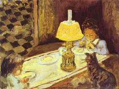 """Pierre Bonnard, """"The Lunch of the Little Ones"""", c. 1897"""