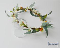 Flower Crown Boho Wedding Green Flower Crown Greenery