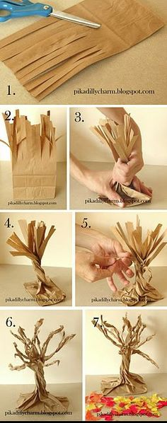 DIY Paper Bag Fall Tree diy craft crafts diy crafts kids crafts autumn crafts fall crafts crafts for kids Holidays Halloween, Halloween Crafts, Holiday Crafts, Holiday Fun, Halloween Trees, Spooky Trees, Autumn Crafts For Kids, Haunted Tree, Sunday School Crafts For Kids Fall