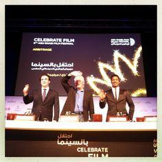 #ADFF12 @SilviaRazgova - Nicholas Jarecki, Richard Gere, Nate Parker at the presscon for #Arbitrage begins