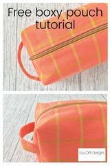 Use up your pretty fabrics and make these cute and useful boxy pouches. #sewinggifts #sewingproject #easy #sewing #free Cork Fabric, Lining Fabric, Zip Face, Modern Sewing Projects, Pouch Pattern, Pouch Tutorial, How To Better Yourself, Dressmaking