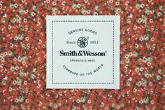 Smith & Wesson Heritage Fashion Brand hangtag and label system. created by arithmetic creative #branding #design #heritage #smithandwesson