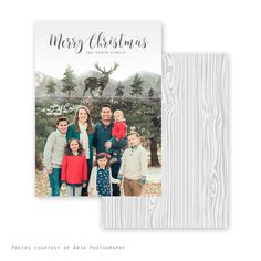 Deer Woods Holiday Card
