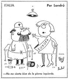 Chiste ITALIA. No me siento bien de la pierna izquierda. Por Landrú / Landru