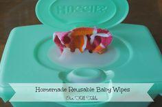 homemade reusable baby wipes  via www.ourfulltable.com