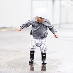 Baby hunter boots @whatloganwears toddler boy fashion