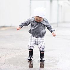 Baby hunter boots @whatloganwears toddler boy fashion
