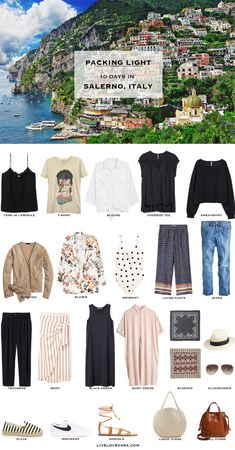 If you are wondering what to pack for Italy in the summer time for 10 days, you can see some ideas here. What to Pack for Italy Packing Light List | What to pack for Salerno l | What to Pack for Amalfi Coast | Packing Light | Packing List | Travel Light | Travel Wardrobe | Travel Capsule | Capsule |