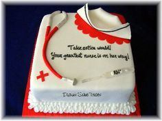 Nurse cake - Hellooo graduation cake!