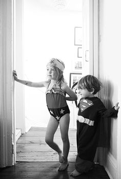 Wonderwoman and superman #playtime season's theme #superstar #superheroes #Kids