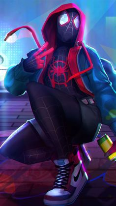 Miles Morales - Ultimate Spider-Man, Into the Spider-Verse Black Spiderman, Spiderman Spider, Amazing Spiderman, Marvel Comic Universe, Marvel Art, Marvel Heroes, Miles Morales Spiderman, Ultimate Spider Man, Avengers Wallpaper