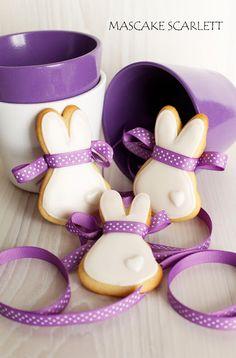 MASCAKE SCARLETT: galletas conejitos
