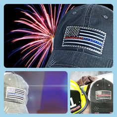Love these thin blue line thin red line womens baseball caps